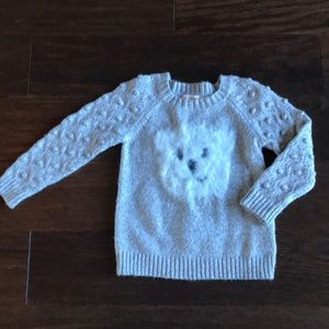 Cat & Jack Gray Toddler Sweater w/ Tail, 2T